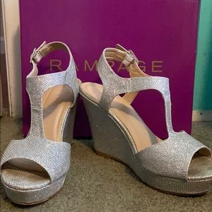 Rampage sparkly wedges! Size 7